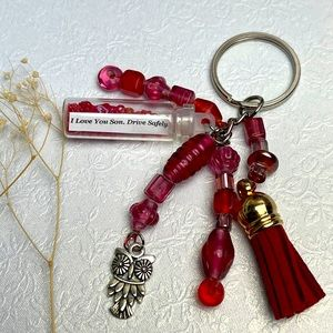 3/20$ Unique Beads inspirational gift keychains